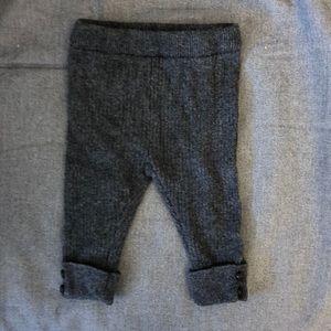 Zara Mini wool blend ribbed button cuff leggings